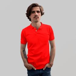 Мужское красное поло