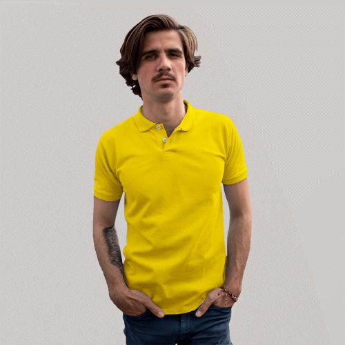 Мужское желтое поло