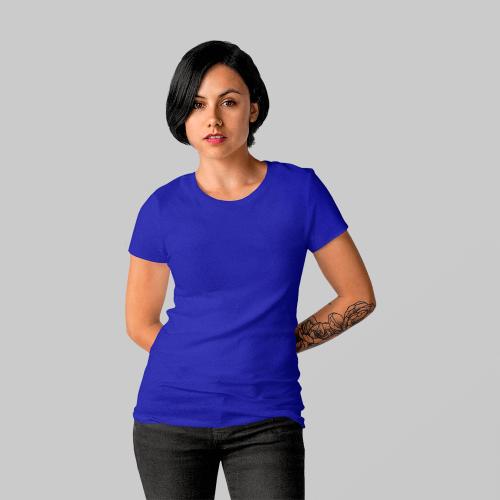 Женская синяя футболка