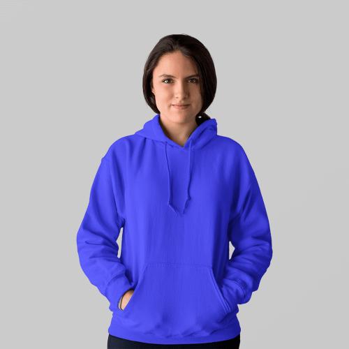 Женская синяя толстовка