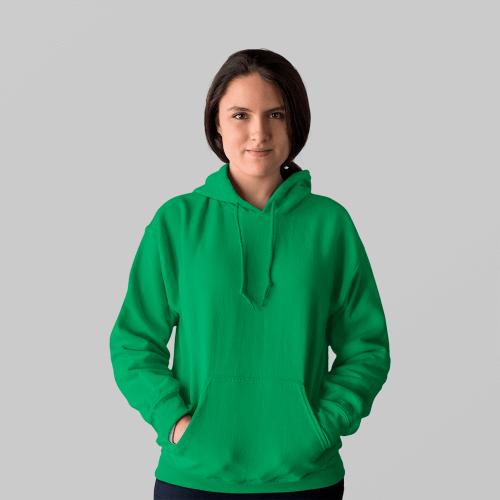 Женская зеленая толстовка