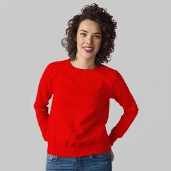 Женский красный свитшот
