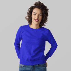 Женский синий свитшот