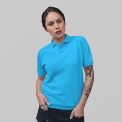 Женское голубое поло