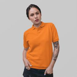 Женское оранжевое поло