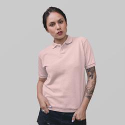 Женское розовое поло
