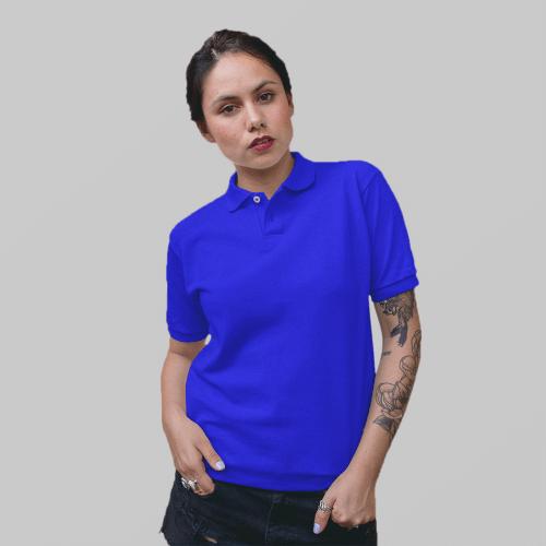 Женское синее поло