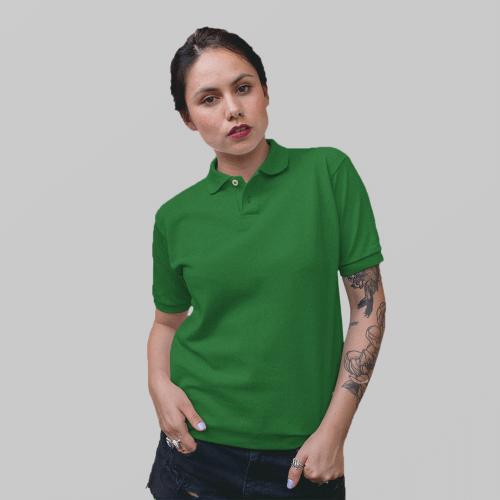 Женское зеленое поло