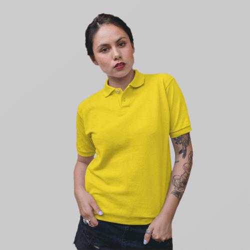 Женское желтое поло
